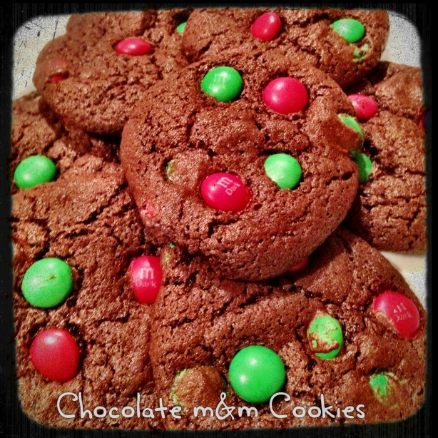 Double Chocolate M&M Cookies - Gluten Free
