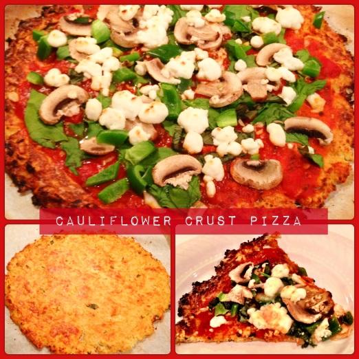 Cauliflower Crust Pizza - babycupcake's healthy eats